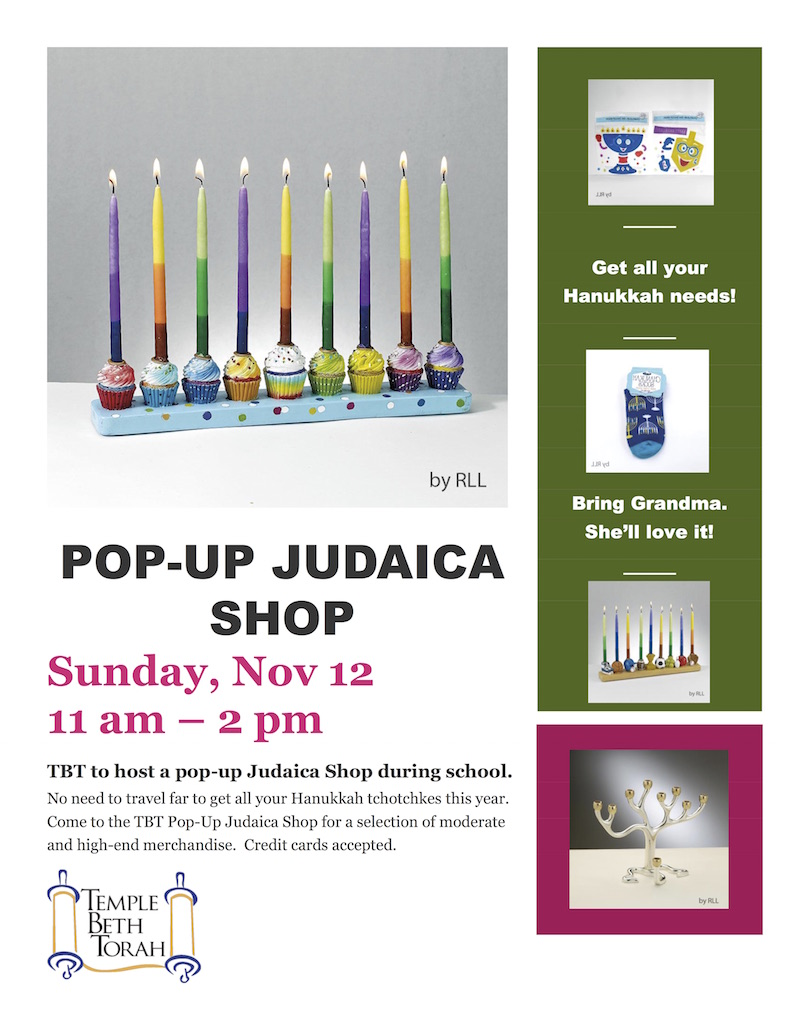 Pop Up Judaica Shop