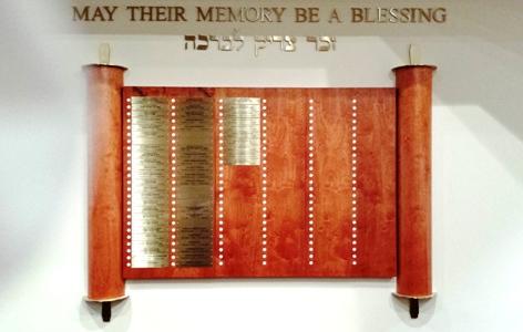 Yahrzeit Memorial Wall